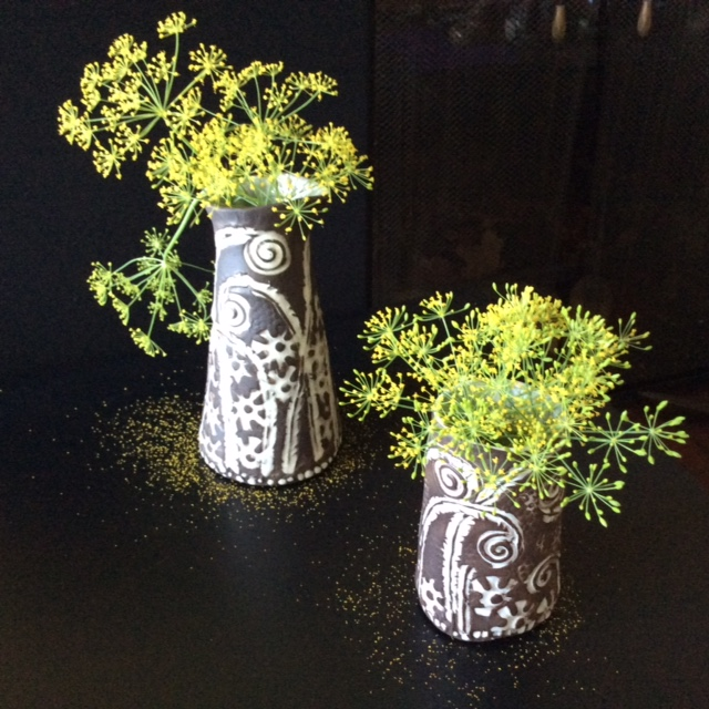Fiddlehead vases