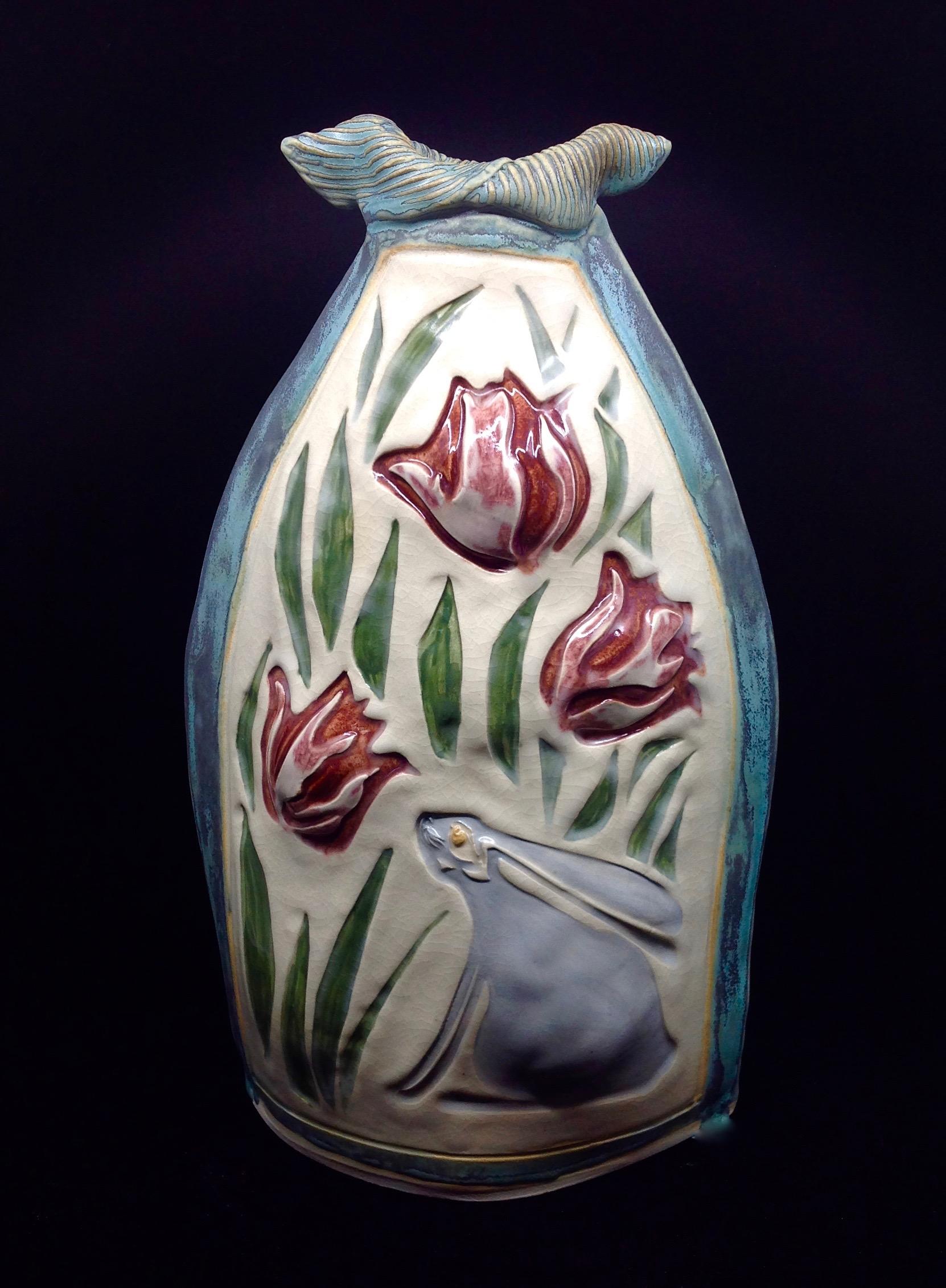 Rabbit Tulip vase